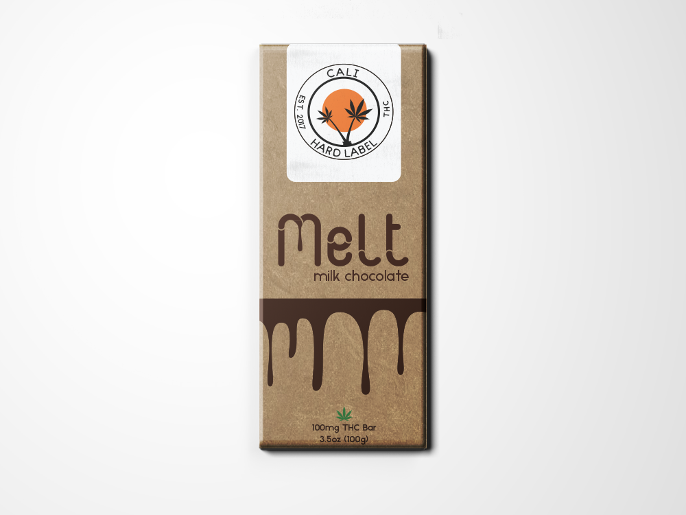 Chocolate Cannibis Packaging Design-Melt